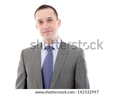 Young happy business man - stock photo