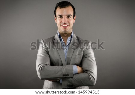 Young Happy Businessman - stock photo