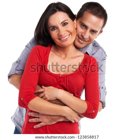 Young happy couple - stock photo