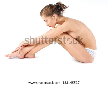 Young healthy woman - stock photo
