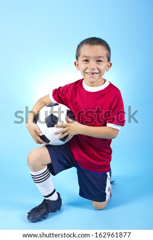 Young Hispanic Soccer Player Portrait - stock photo