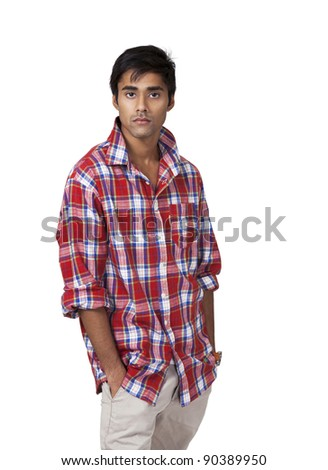Young indian male with casual attitude - stock photo