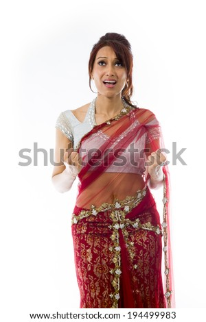 Young Indian woman looking frustrated - stock photo