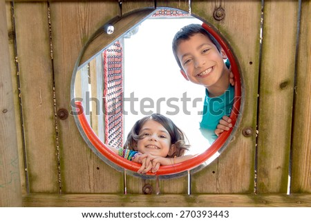 Young kids having fun in the park - stock photo