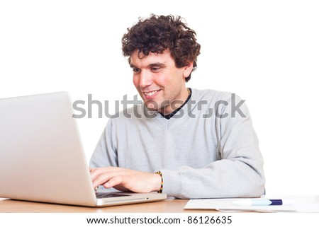 Young Man at Work in Office - stock photo