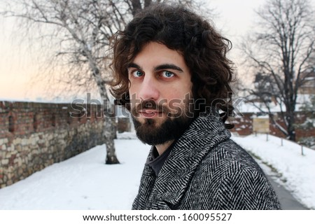 young man, face - stock photo