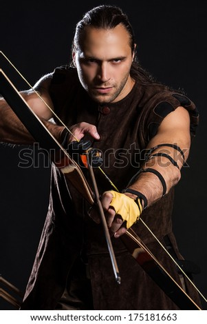 Young man has some dangerous hobby - stock photo