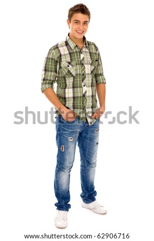Young Man in Casual Clothes - stock photo