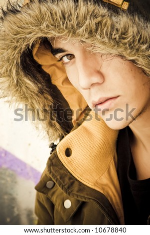 Young man portrait in casual clothing - stock photo