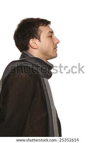 young man portrait in studio - stock photo