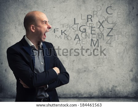 young man screaming - stock photo