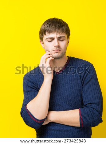 young man toothache - stock photo