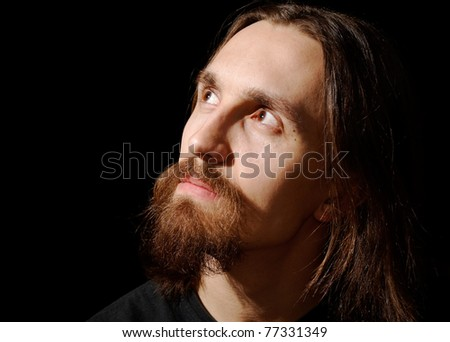Man With Beard Profile Stock Photos, Images, & Pictures ...