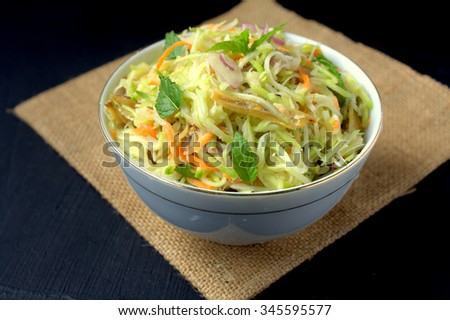 young Mango salad - Asian style  - stock photo
