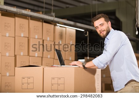 Young Manual Worker - stock photo