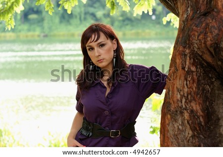 young model - stock photo