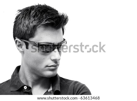 Young model wearing sunglasses - stock photo