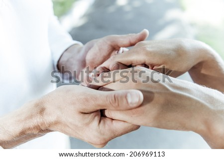 young people and their hands. - stock photo