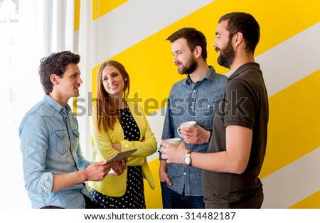Young People Brainstorming - stock photo