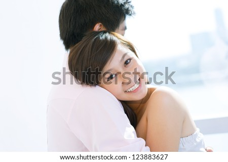 Young people embracing expressing their love - stock photo