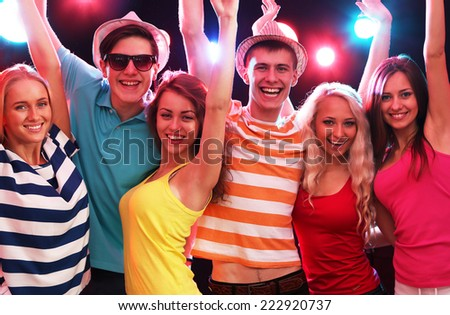 Young people having fun a party. - stock photo