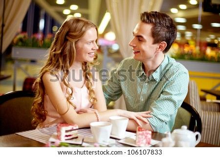 Young people in love enjoying their happy time together - stock photo