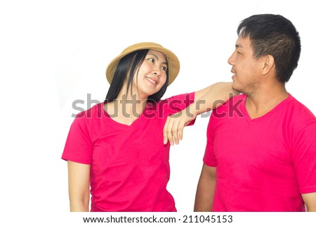 Young people of Thailand with a lovely smile - stock photo