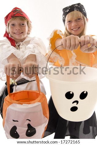 Young Pirates Ready to Pillage and Plunder! - stock photo