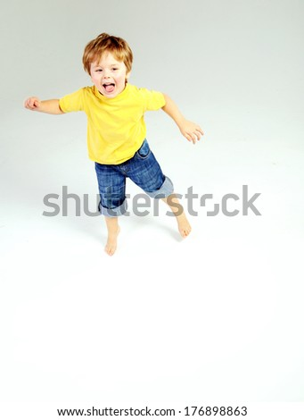 Young pretty boy - stock photo