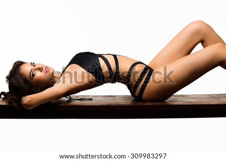 Young sensual & beauty woman in a fashionable bikini - stock photo