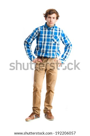 young serious boy - stock photo