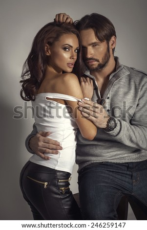 Young sexy couple - stock photo