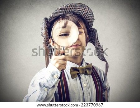 Young Sherlock  - stock photo