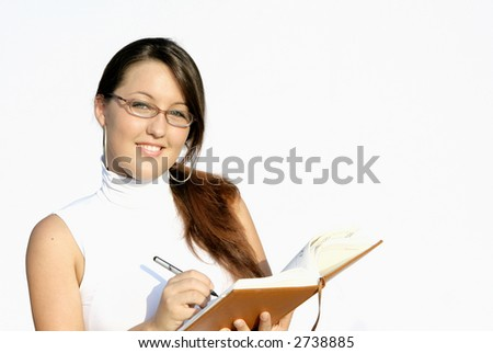 young smiling secretary - stock photo