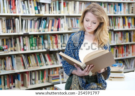 young student - stock photo