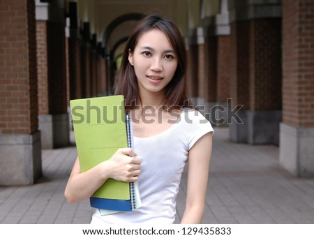 young student at his university at a campus - stock photo