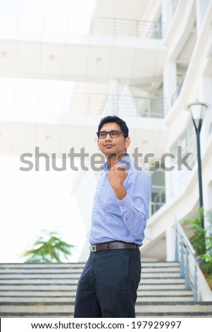 Young successful business man expressing  - stock photo