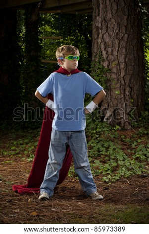 Young Super Hero - stock photo