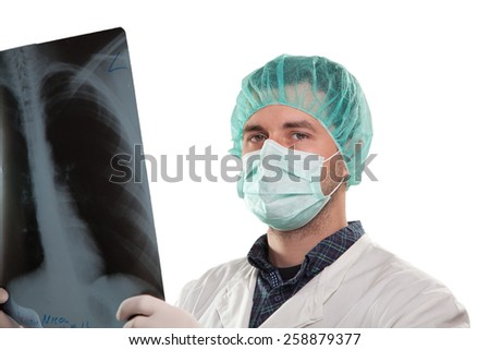 Young surgeon - stock photo