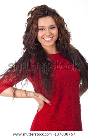 young teenager with a beautiful smile - stock photo