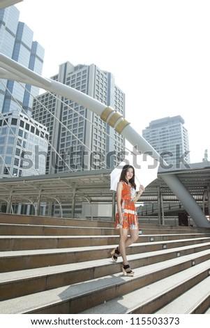 Young Thai woman in Bangkok thailand - stock photo