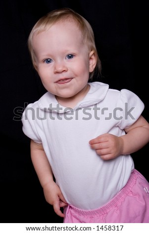 young toddler plays - stock photo