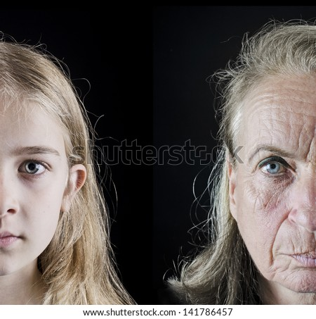 Young vs old - stock photo
