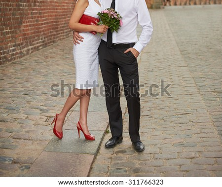 Young wedding couple in love.  - stock photo