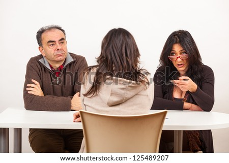 Young Woman During an Exam - stock photo