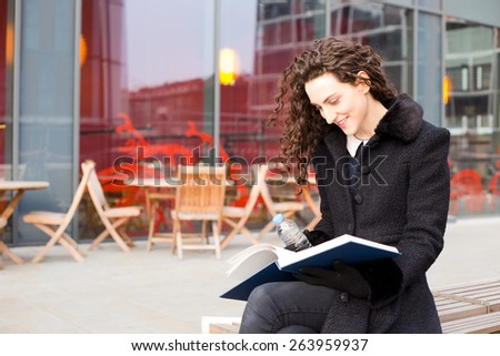young woman enjoying her day - stock photo