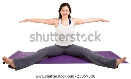 Young Woman Exercising - stock photo