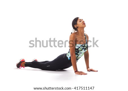 Young woman exercising - stock photo