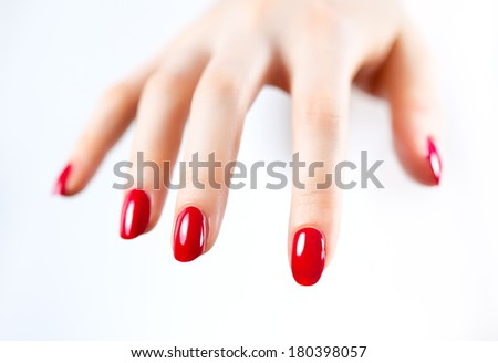 Young woman hand. - stock photo