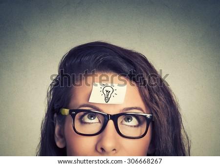 Young woman has a good idea - stock photo